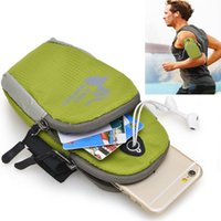 нейлоновые чехлы оптовых-Wholesale-Waterproof Nylon Arm Band Case For  6s plus sport Arm Phone Bag Running Accessory Band Gym Pouch Belt Cover for galaxy S7