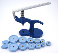Wholesale watch back press tool set - DHgate TOP Blue&White Color Watchmaker Repair Tool Watch Press Kit Set Back Case Closer Plastic Case Crystal Glass Fitting 18 - 50mm WT0015