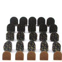 Wholesale Black Tap Shoes Women - 12 pairs Black And Yellow High Heel Shoes Dowel Stiletto Repair Replacement Tips Taps Pins Lifts Heel Protector Women Shoe Accessories
