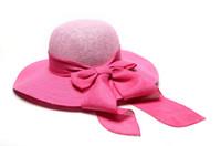 Wholesale Kentucky Bow Tie - bow ribbon straw hats for women Kentucky Derby Wedding Church Party summer beach sun hats