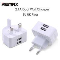 Wholesale Apple 12w Usb Power Adapter - Remax 2.1A Fast Charging 12W Dual USB Power Adapter 1A UK EU Travel Wall Charger With Retail Package