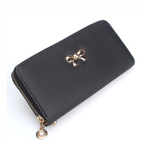 Wholesale 2017 Fashion Lady Women Clutch PU Leather Long Wallet Card Holder Purse Handbag Bag wallets