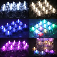 Wholesale Xmas New Candle - Submersible candle Underwater Flameless LED Tealights Waterproof electronic candles lights new Wedding Birthday Party Xmas Decorative lights