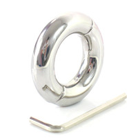 Wholesale Bdsm Torture - Adult Male Cock and Ball Torture 210 200 Gram Stainless Steel Ball Stretcher Weight with Hex Head Key BDSM CBT Sex Toys