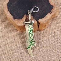 Key Chain 12 centimetri pendente in lega di zinco League of Legends Assassin Creed Riven Lama portachiavi LOL Giochi a tema da regalo chiave Anello