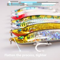 Wholesale Hook Fish Packing - 7 Pack of glittering minnow hard fishing lure artificial bait wobbler fake lure fish bait pesca fishing accessories hooks