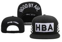 Wholesale Cap Hat Air - New Hood By Air HBA Baseball Caps hip hop Sports Snapback hat unisex flat brim hats adjustable gorras bones men swag