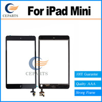 Wholesale Ipad Mini Touch Panel - 100% Guarantee for iPad Mini 1 2 for ipad mini 3 Touch Screen Digitizer Assembly with Home Button+IC Connector Touch Panel Replacement Parts
