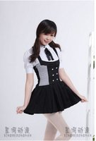 Wholesale Cosplay Inu X Boku - Free Shipping! Inu x Boku SS Shirakiin Ririchiyo Anime Cosplay Costume Suit Skirt