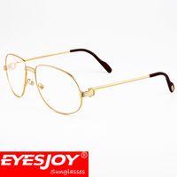 Wholesale Bag Lens Waterproof - Metal Frame Designer Optical Glasses Myopia Reading Glasses Clear lens Eyeglasses Retro Business Glasses with Box CT1185212EG
