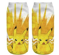 2016 Anime Pikachu Team Tapferkeit Polyester Socken Graphic Poke Ball GO Gym Team kurzen Socken Cute funny Socken Slipper Frauen Knöchelrohr Strumpfwaren