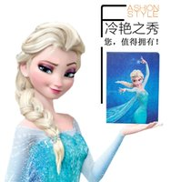 Wholesale Ipad4 Leather - Frozen Elsa Anna cartoon iPad case ipad Air cases ipad2 iPad 3 iPad4 covers PUfre Leather Case Stand covers 9 styles