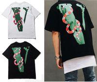 Wholesale V Neck Big Shirt Women - Vlone T shirts 2017 Summer Tide Brand Big V printed Men Women clothing Kanye West Hip Hop Street Skateboard Short sleeve Cotton Tee T-shirts