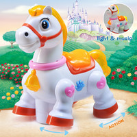 Wholesale Electric Cartoon horse toy dancing Baby Learning To Crawl Educational Toys With Music Light Infant Baby Toy Educational Toys