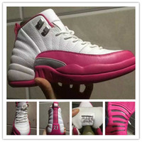 [Avec Boîte] Cheap New Air Retro 12 XII 12s Chaussures de Basketball pour Femmes Sneakers Femmes Taxi Playoffs Gamma Blanc Rose Sports 12s Chaussures XII Répliques