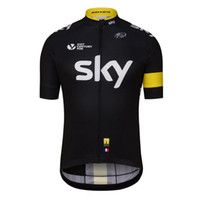 Wholesale Team Sky Cycling Jersey Cheap - Ropa Ciclismo Racing Short Breathable Cycling Bike Tops Cheap Sky Summer Cycling Shirt Jerseys for Men Team Bicycle Shirts High Quality