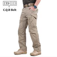 erkekler kargo pantolon satışı toptan satış-Büyük indirim! TAD IX9 (II) Militar Taktik Kargo Açık Pantolon Erkekler Savaş Yürüyüş Ordu Eğitim Askeri Pantolon Avcılık Açık Havada Spor Pantolon