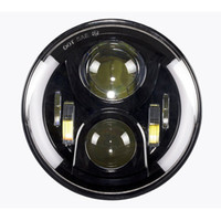 Wholesale halo headlamps - New H4 LED Motorcycle Headlight Bulbs With Halo LED Headlamp High Low Motos Light Bulbs For Harley Motorcycle 7inch Led headlamp