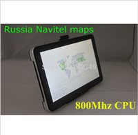 Wholesale Car Navigation Touch Screen Sale - Hot sale in Russia! 7 inch car GPS navigation, DDR 128 MB, 800Mhz CPU 4GB ROM, free Europe maps or 2016 Russia Navitel 9.1 maps