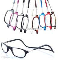 Wholesale Connect Fashion - wholesale new arrival Adjustable Front Connect Readers reading glasses fashion men women's magnetic reading glasses free shipping