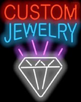 """Wholesale Bracelet Glass Tubes - Custom Jewelry Neon Sign Necklaces Rings Bracelets Real Glass Tube Light Store Shop Company Display Advertising Handcrafted Sign 24""""X30"""""""
