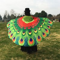 Wholesale Peacock Towels - 180*145Cm New Arrival Printing Beach Towel Butterfly Shawl Eye Catching Peacock Capes Party Costumes Decoration Mixed Colors