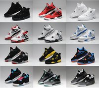 Wholesale Thunder 4s - 2018 High Quality 4s Basketball Shoes 4 Men Women Authentic IV Boots White Cement Fire Red Bred Bulls Royalty Thunder Sport Shoes Sneakers