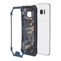 Wholesale Military Hard Case - 2 in 1 Hybrid Camouflage Plastic Military Case For Iphone 7 SE 5 5S 6 6S Plus Ipod Touch 6 5 Galaxy S8 S7 Hard PC+Soft TPU+Skin Armor Layer