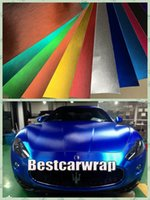 Wholesale Air Brush Colors - Various Colors Brushed Matt Chrome Vinyl For Car Wrapping with Air Release Film Boat   Vehicle Wraps covers foil Size 1.52x20m Roll 5x67ft
