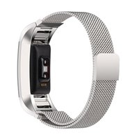 Wholesale Stainless Steel Bracelet Bands - New Magnetic Milanese Loop Metal Band For Fitbit Charge 2 Charge2 Wristband Stainless Steel Watch Band Bracelet Mesh Strap Replacement