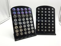 Wholesale 2016 New High Quality Snap Button Display Stands Black Acrylic Interchangeable Jewelry Display Board With40pcs Buttons Fit mm mm Snap