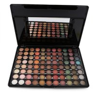 Wholesale Eyeshadow Palette 88 New Warm - Wholesale-Fashion Special New Makeup Warm Pro 88 Full Color Eyeshadow Palette Eye Beauty Makeup Set Eye Shadow Professional 7# With Brush