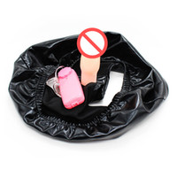 Wholesale Toy Sex Penis Wear - Latex Panties with Anal Plug Vibrating Dildo Pants Secret Wear Dildo Panties Penis Strapon Harness Adult Sex Toys for Woman
