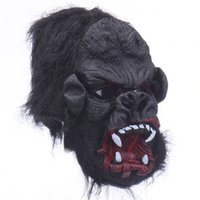 Wholesale Halloween Gorilla Mask - Wholesale Price Halloween Gorilla Latex Mask Creepy Full Face Animal Head Mask Theater Costumes Role Playing
