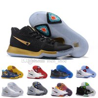 Wholesale Christmas Ball Top - 2017 New Arrival Kyrie Irving 3 Signature Game Basketball Shoes For Top Quality Men's Sports Training Basket ball Sneakers Size 40-46