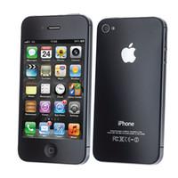 Wholesale Iphone 4s Factory Unlock - Refurbished Apple iPhone 4S 8GB 16GB 32GB White Black Factory Unlock Smartphone Drop ship 1pc