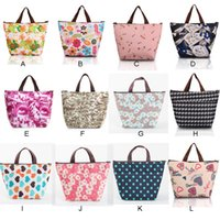 Wholesale Flower Oxford Picnic Thermal Women Lunch Handbag Messenger Bags Neoprene Food Cooler Bags ELB200