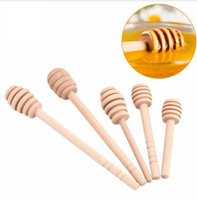 Wholesale Wood Stick Kitchen - Wooden Honey stick Dippers honey stir rod dipper kitchen tool Wooden Dippers Honey Jar Stick Wood Stick Tools KKA2452