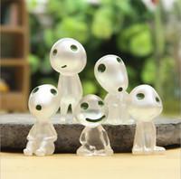 ingrosso figurine del fumetto-Principessa Mononoke Luminous Elves Tree Doll Figurine di posizione degli elfi Hayao Miyazaki Cartoon Alien Small Doll Toy