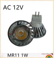Wholesale 1w Power - Factory Wholesale 10pcs Lot High Power 1x1W led lamp Lightings MR11 1W Warm Cold White 12V DC led spotlight