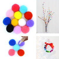 Wholesale Lockets Fragrance - Wholesale 15mm Replace Cotton Balls Pompon For Cage Box Locket Fragrance Aromatherapy Essential Oil Diffuser Pendant Necklace Making DIY