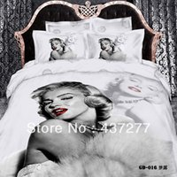 Wholesale Sexy King Comforter Sets - popular home textiles sexy Marilyn Monroe bedding bedclothes bed linen cotton reversible duvet cover comforter sets queen king