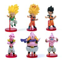 Wholesale Anime Figure Dragon Ball - 6pcs Dragon Ball Z Action Figure Son Goku Gohan Goten Buu Ubu Budokai PVC Model Japanese Anime Figure Dragonball Z Kai Toy