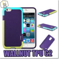 Wholesale Hybrid House - Walnutt G2 hybrid Plastic TPU armor cellphone case for Iphone 6s plus brand back cover phone housing for samsung s5 note 5 note4