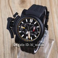 Wholesale Chronograph Watch Cheap - Super Clone Brand New Mansory Chronofighter Oversize 2OVBV-1 47mm Mens Watch Quartz Chronograph PVD Black Rubber Band Gents Cheap Watches