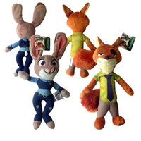 Wholesale Minions Stuff For Kids - 30cm 2016 Hot Movie Zootopia Plush Nick wilde Toy minion stuffed toys cute gifts for your kids free shipping