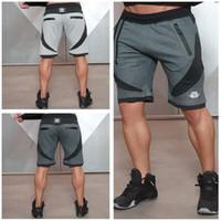 Wholesale Mens Short Pant - Wholesale-Super Quality Mens Casual Cropped Beach Trousers Sports Gym Short Pants Slacks Jogging Black Gray M L XL XXL