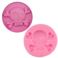 Wholesale Skull Head Candy - Skull Head Silicone Fondant Cake Mold Soap Chocolate Candy Mould DIY Decorating Baking High Quality Kitchen Tools