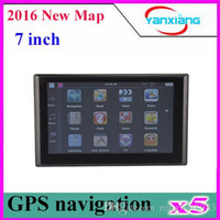 Wholesale 7inch Navigation - 5pcs 7 Inch Slim GPS Navigation System Bluetooth+FM+AV IN MAP + built in 4GB memory 7inch Gps ZY-DH-03