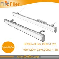 doğrusal led ışık bar toptan satış-4 adet 60w 80w 100w 120w 150w 200w IP65 düz doğrusal düşük defne ışık 2ft 3ft 4ft 5ft led doğrusal çubuk açık tüp ışık